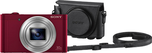 Sony CyberShot DSC-WX500 Rood + LCJ-HWA Camerahoes Main Image