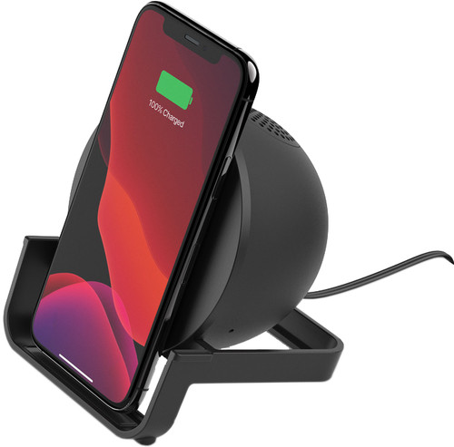 Belkin BoostCharge Wireless Charger 10W with Stand and Speaker Black Main Image