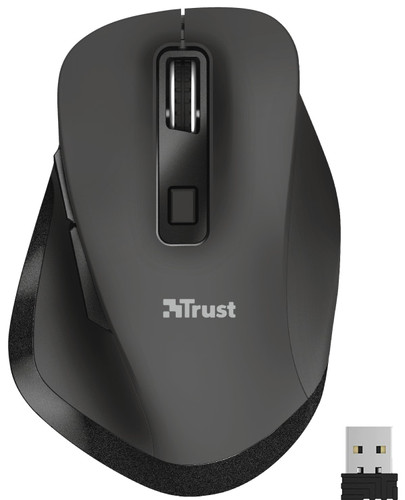 Trust Fyda Rechargeable Wireless Mouse Black Main Image