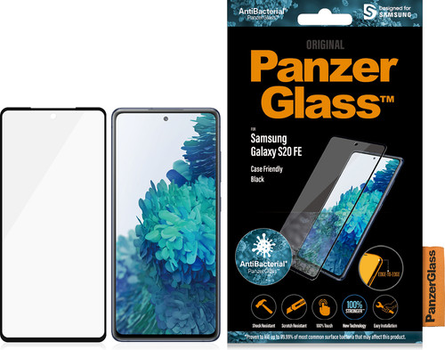 PanzerGlass Case Friendly Samsung Galaxy S20 FE Screenprotector Glas Zwart Main Image