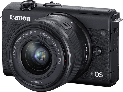 Canon EOS M200 Zwart + 15-45mm IS STM + 55-200mm IS STM Main Image