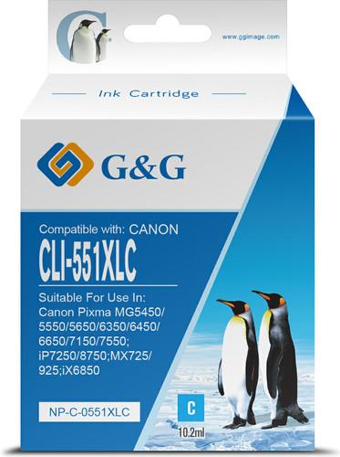 G&G CLI-551XL Cartridge Cyaan Main Image