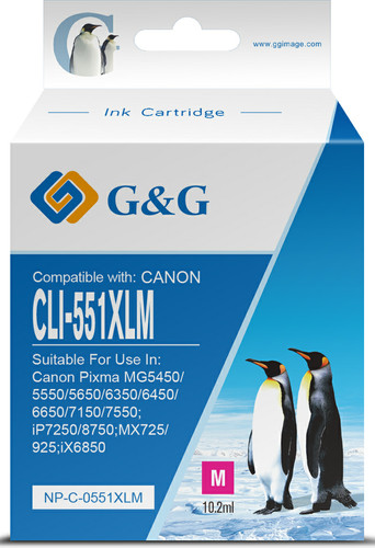 G&G CLI-551 XL Cartridge Magenta Main Image