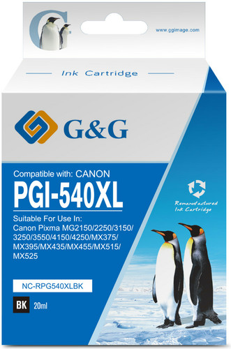 G&G PG-540XL CartridgeZwart Main Image