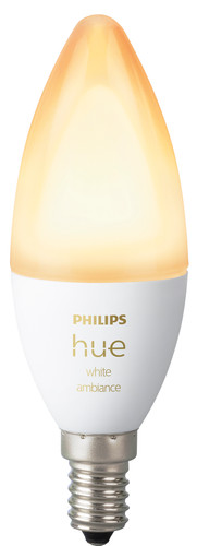 Philips Hue White Ambiance E14 Bluetooth Single Bulb Main Image