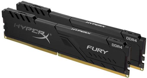 HyperX 16GB 3200MHz DDR4 CL16 DIMM (Kit or 2) 1Rx8 HyperX FURY Black Main Image