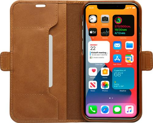 DBramante1928 Copenhagen Slim Apple iPhone 12 Pro Max Book Case Leer Bruin Main Image