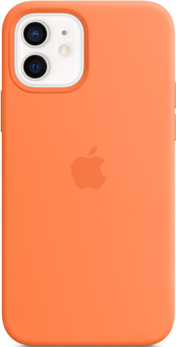 Apple iPhone 12 (Pro) Silicone Back Cover with MagSafe Kumquat Main Image