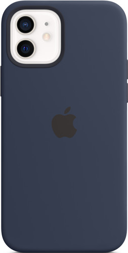 Apple iPhone 12 (Pro) Silicone Back Cover with MagSafe Deep Navy Main Image
