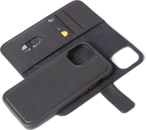 Decoded Apple iPhone 12 Mini 2-in-1 Case Leather Black Main Image