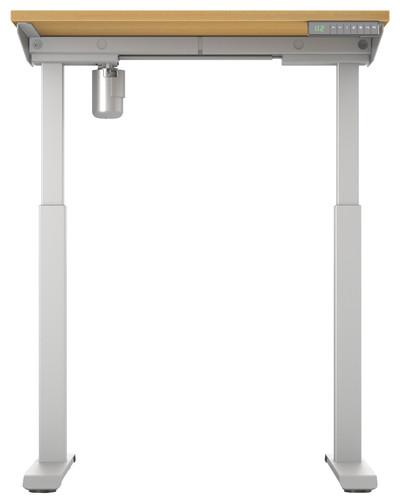 Worktrainer StudyDesk Sit-Stand Desk 80x80cm Silver/Oak Main Image