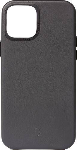 Decoded Apple iPhone 12 / 12 Pro Back Cover Leer Zwart Main Image