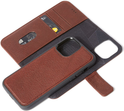 Decoded Apple iPhone 12 / 12 Pro 2-in-1 Case Leer Bruin Main Image