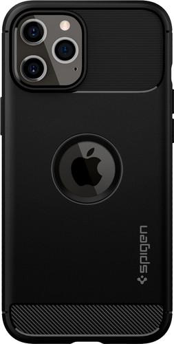 Spigen Rugged Armor Apple iPhone 12 Pro Max Back Cover Zwart Main Image