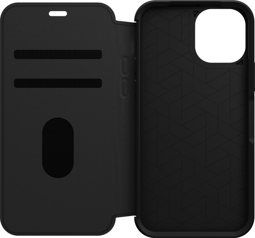 Otterbox Strada Apple iPhone 12 / 12 Pro Book Case Leer Zwart Main Image