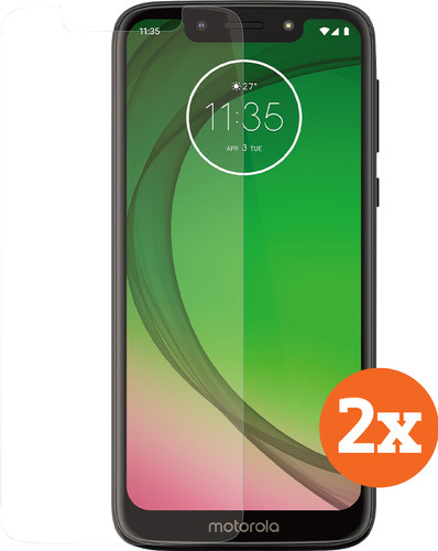 Azuri Tempered Glass Motorola Moto G7 Play Screenprotector Duo Pack Main Image