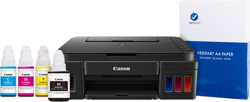 Canon PIXMA G3501 + Inktflesjes + A4 papier Main Image