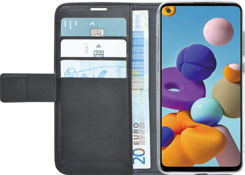 Azuri Wallet Magneet Samsung Galaxy A21s Book Case Zwart Main Image