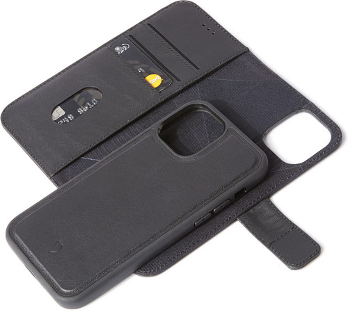 Decoded Apple iPhone 12 Pro Max 2-in-1 Case Leer Zwart Main Image