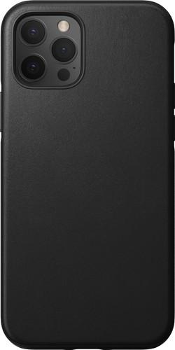 Nomad Rugged Case Apple iPhone 12 / 12 Pro Back Cover Leer Zwart Main Image