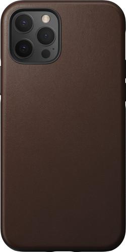 Nomad Rugged Case Apple iPhone 12 / 12 Pro Back Cover Leer Bruin Main Image