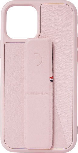 Decoded Dual Stand Apple iPhone 12 / 12 Pro Back Cover Leer Roze Main Image