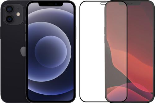 Apple iPhone 12 64GB Zwart + Azuri Tempered Glass Screenprotector Main Image