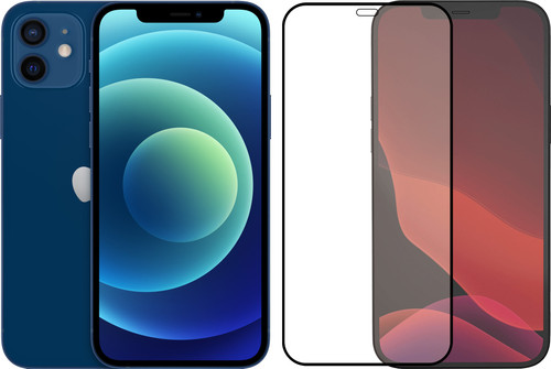 Apple iPhone 12 128GB Blauw + Azuri Tempered Glass Screenprotector Main Image