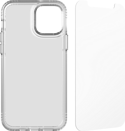 Tech21 Evo Clear Apple iPhone 12 / 12 Pro Back Cover Transparent + Screen Protector Main Image