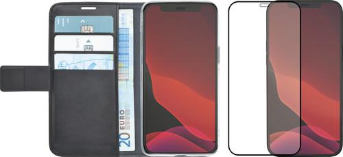 Azuri Wallet iPhone 12 mini Book Case Zwart + Azuri Screenprotector Main Image