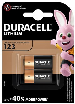 Duracell High Power Lithium 123-batterij 3V 2 stuks Main Image