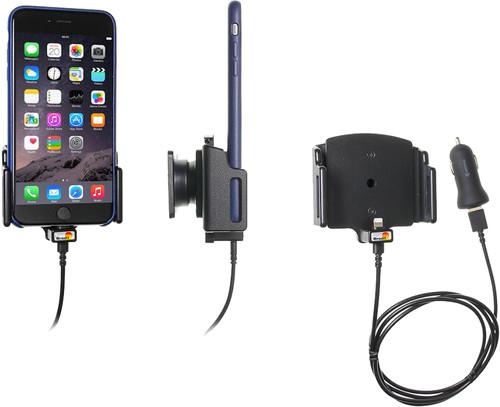 Brodit Universele Telefoonhouder Auto 75 - 89mm Dashboard met Lightning Oplader Main Image