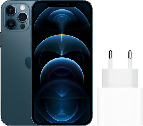 Apple iPhone 12 Pro 128GB Pacific Blue + Apple Usb C Oplader Main Image