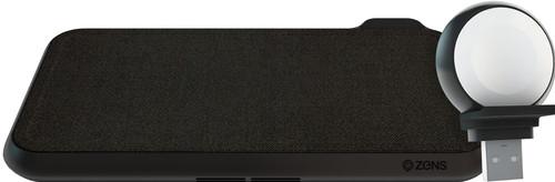 ZENS Liberty Draadloze Oplader Zwart Kvadrat + ZENS Apple Watch Oplader Main Image