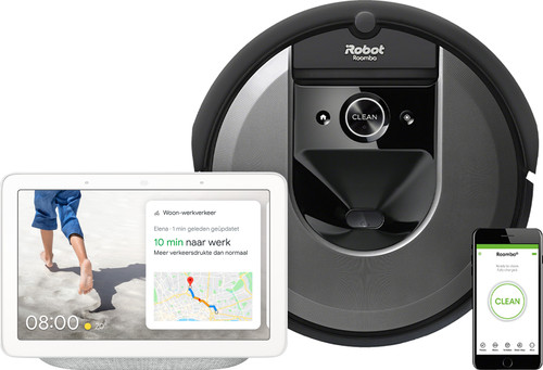 iRobot Roomba i7 + Google Nest Hub Chalk Main Image