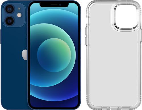 Apple iPhone 12 mini 64GB Blauw + Tech21 Evo Clear Back Cover Transparant Main Image
