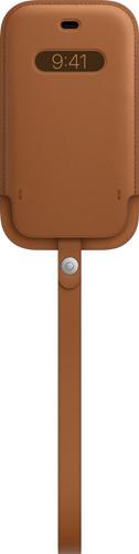 Apple iPhone 12 mini Leren Sleeve met MagSafe Zadelbruin Main Image