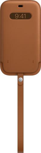 Apple iPhone 12 Pro Max Leren Sleeve met MagSafe Zadelbruin Main Image