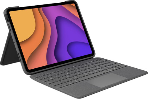 Logitech Folio Touch Apple iPad Air (2020) Toetsenbord Hoes QWERTY Grijs Main Image