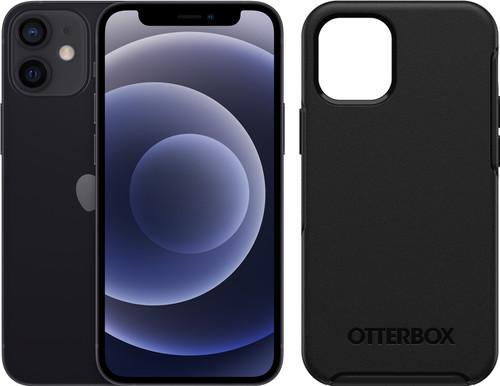 Apple iPhone 12 Mini 64GB Black + Otterbox Symmetry Back Cover Black Main Image