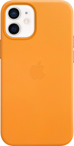 Apple iPhone 12 mini Back Cover met MagSafe Leer California Poppy Main Image