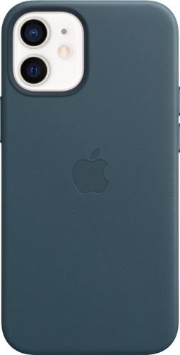 Apple iPhone 12 mini Back Cover met MagSafe Leer Baltisch Blauw Main Image