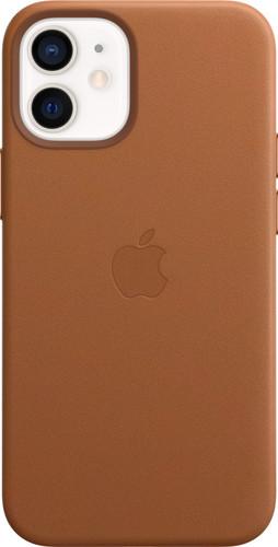 Apple iPhone 12 mini Back Cover met MagSafe Leer Zadelbruin Main Image