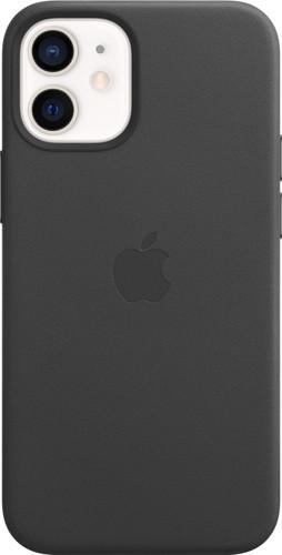 Apple iPhone 12 mini Back Cover met MagSafe Leer Zwart Main Image
