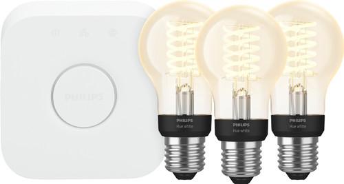 Philips Hue Filamentlamp White Standaard E27 Bluetooth Starter 3-Pack Main Image