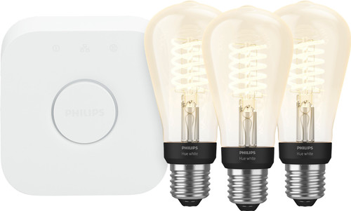 Philips Hue Filament Light White Edison E27 Bluetooth Starter 3-pack Main Image