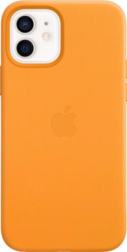 Apple iPhone 12 en 12 Pro Back Cover met MagSafe Leer California Poppy Main Image