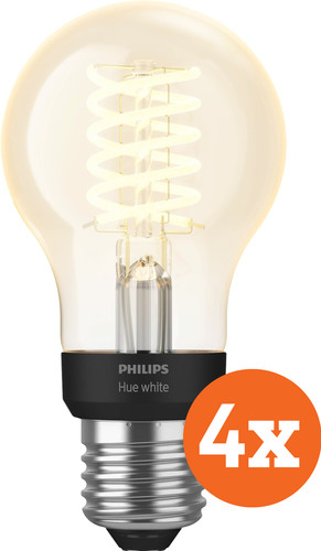 Philips Hue Filamentlamp White Standaard E27 Bluetooth 4-Pack Main Image