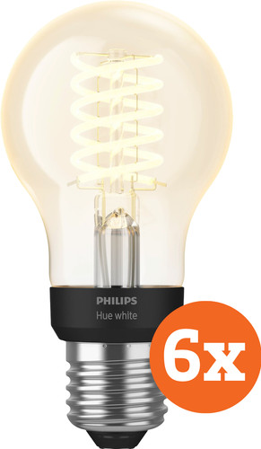 Philips Hue Filamentlamp White Standaard E27 Bluetooth 6-Pack Main Image
