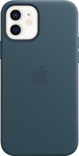 Apple iPhone 12 / 12 Pro Back Cover with MagSafe Leather Baltic Blue Main Image